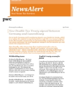Asset management: Real Estate Tax Services Newsalert: New Double Tax Treaty signed between Germany and Luxembourg: PwC