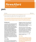 Germany: Investment advice provided to an investment fund is exempt of VAT