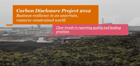 Carbon Disclosure Project 2012
