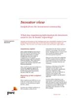 Investor View  - Banking regulatory disclosures