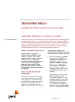Investor View  - Cash flow disclosure: is there enough?