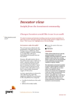Investor View  - Changes investors would like to see in an audit