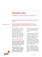 Investor view - Disclosures about the impact of the eurozone crisis