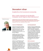 Investor View  - How could companies in the Retail & Consumer sector improve their disclosures?
