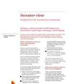 Investor view - Improving disclosures of foreign exchange and hedging