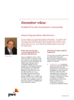Investor View  - Improving pensions disclosures