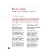 Investor View  - Non-GAAP measures