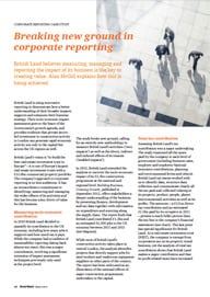 Case study: Breaking new ground in corporate reporting