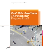 SEPA Readiness Thermometer August 2013 update – Prepare a Plan B