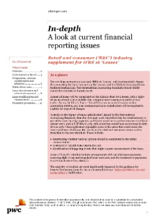 Retail and consumer ('R&C') industry supplement for IFRS 16 'Leases'