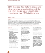 Automotive Tax Insights:  2014 Mexican Tax Reform