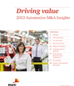 Driving Value: 2013 Automotive M&A Insights Overview