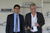 Stephan Magnan, CEO of Montupet SA accepts his award for European Parts Supplier, in 1 year