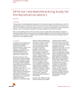 Automotive Tax Insights: 2014 tax rate benchmarking study for the Automotive sectors