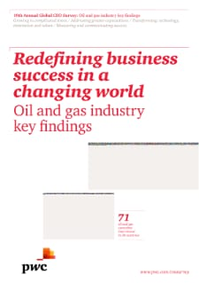 19th Annual Global CEO Survey: Oil and gas industry key findings