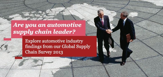 Explore automotive industry findings from our Global Supply Chain Survey 2013