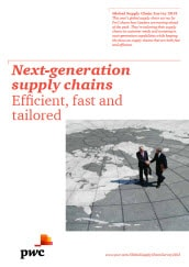 Global supply chain survey 2013: Next-generation supply chains: Efficient, fast and tailored