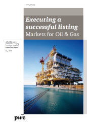 Executing a successful listing: Markets for Oil & Gas