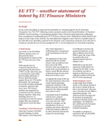 EU Fit: another statement of intent by EU Finance Ministers
