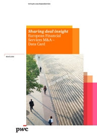 Sharing deal insights - European Financial Services M&A – Data card