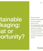 Sustainable packaging: threat or opportunity?