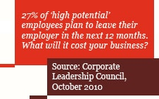 27% of 'high potential' employees plan to leave their employer in the next 12 months1. What will it cost your business?