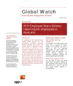 Global Watch: Australia - 2011 Employee Share Scheme reporting for employees in Australia