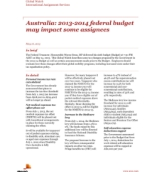 Global Watch: Australia: 2013-2014 federal budget may impact some assignees