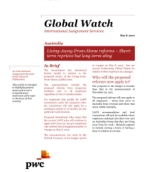 Global Watch: Australia - Living-Away-From-Home reforms - Short-term reprieve but long-term sting