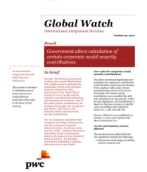Global Watch: Brazil - Government alters calculation of certain corporate social security contributions