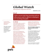 Global Watch: Brazil - Labor courts hold that housing and car allowances paid to offshore employees are not fringe benefits