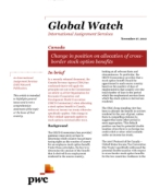 Global Watch: Canada - Change in position on allocation of cross-border stock option benefits