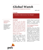 Global Watch: Canada - Canadian Federal 2012 Tax Budget