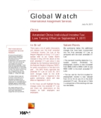 Global Watch: China - Amended Individual Income Tax Law