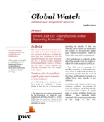 Global Watch: France - French Exit Tax: Clarifications on the Reporting Formalities