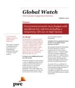 Global Watch: France - Government presents 2013 budget with significant tax reforms including a temporary 75% tax on high income