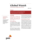 Global Watch: France - French Tax and Social Security Propositions for Individuals