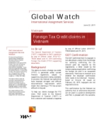 Global Watch: Vietnam - Foreign Tax Credit claims in Vietnam