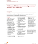 Global Watch: Vietnam: Guidance on 2012 personal income tax released