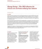 Global Watch: Hong Kong: The IRD shares its views on various salary tax issues