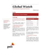 Global Watch: India - 2012/2013 Union Budget