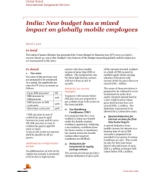 Global Watch: India: New budget has a mixed impact on globally mobile employees