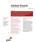 Global Watch: Japan - New reporting requirements for share and company performance based compensation introduced