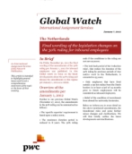 Global Watch: Netherlands - Final wording of the legislation changes on the 30% ruling for inbound employees