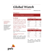 Global Watch: Singapore - Singapore Budget Announcement