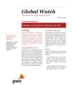 Global Watch: United Kingdom - Statutory Residence Test for the UK