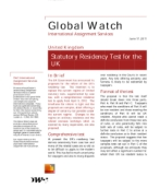Global Watch: United Kingdom - Statutory Residency Test for the UK