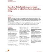 Insights from International Assignment Services: Sweden: Totalization agreement with India is effective from August 1, 2014