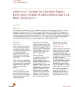 Insights from International Assignment Services: Temporary Budget Repair Levy may impact mobile employees and their employers