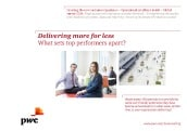 HR: Delivering more for less. What sets top performers apart?